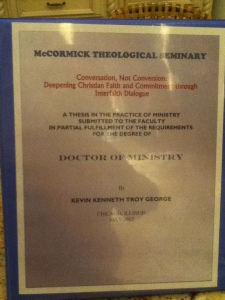 MY THESIS TITLE: Conversation not Conversion: Deepening Christian Faith and Commitment through Interfaith Dialogue
