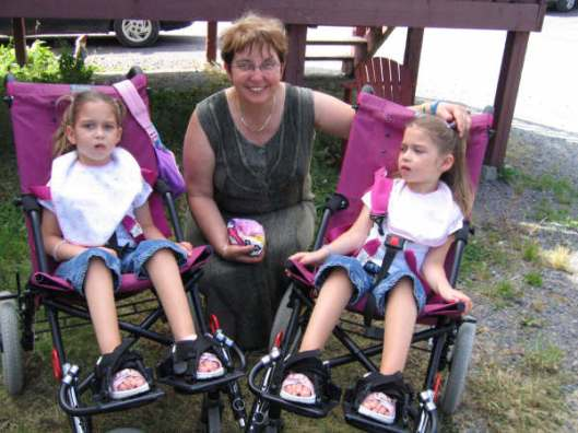 My Sister Helen with her Granddaughters Andrea and Becky