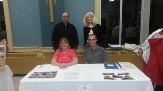 St Aidan's Table.  Front - Suzanne Gautreau and Pat Ferguson, Back - Kevin George and Anne Jaikaran