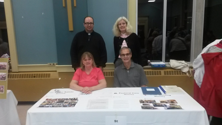 St Aidan's Table.  Front - Suzanne Gautreau and Pat Ferguson, Back - Kevin George and Anne Jaikaran
