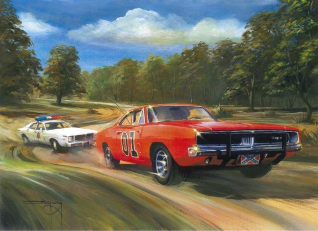 Dukes-of-Hazzard-General-Lee-Painting